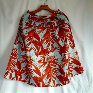 H&M Tropical Print Fit & Flare Skirt NWT Size 6